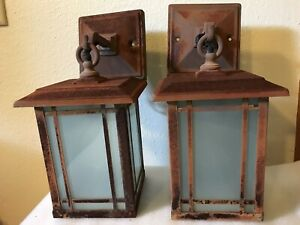 Arts And Crafts Entry Lamps Mid Century Price Is For Pair