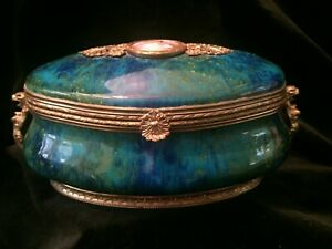 Elegant Art Deco Paul Millet Mp Sevres France Vanity Box