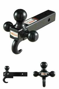 3 Ball 2 Trailer Hitch Tri Ball Mount With Hook Class Iii Iv