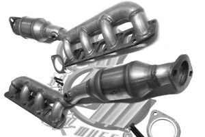 Fits Nissan Titan 5 6l Pair Of Front Manifold Catalytic Converters 2004 2015