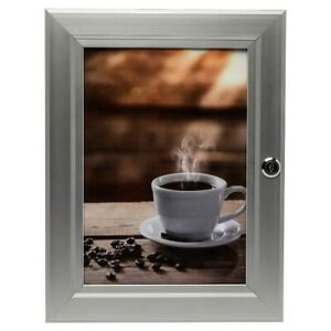 A4 Secure Locking Aluminium Frame Public Notice Board Inside Or Out Safe Use