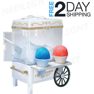 Commercial Electric Vintage Snow Cone Cart Shaved Ice Maker Machine For Summer