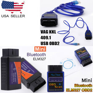 Elm327 Bluetooth Usb Interface Vag Kkl 409 1 Obd2 Scanner Diagnostic Tool