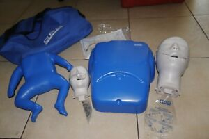 Complient Cpr Prompt Adult Infant Test Manikins W Laryngoscope face Shield bag