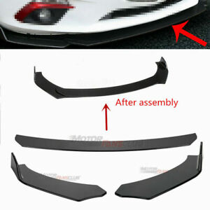 Black Front Bumper Lip Chin Spoiler Wing Body Kit For Ford Mustang Gt 1999 2019