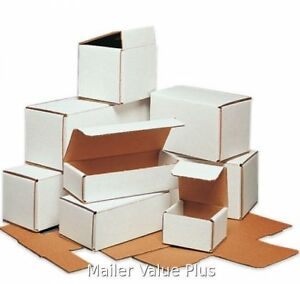400 4 X 4 X 4 White Corrugated Shipping Mailers Packing Box Mailer Boxes