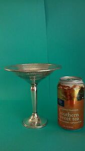 Vintage Art Deco Sterling Silver Weighted Compote Footed Candy Dish 6 Tall