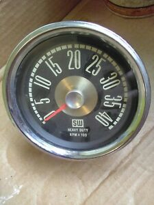 Vintage Stewart Warner Oem Heavy Duty 4000 Rpm Tach Ford Truck Rat Rod Hot Rod