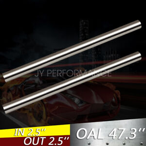 2pcs Exhaust Pipe Tubing Od 3 5 4ft Tube Piping Stainless Steel T 304 Straight