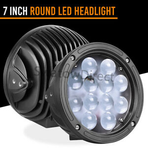 7 Inch Cree Led Round Work Lights Bar Combo Beam Fr Offroad Suv Boat W Mounting