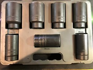 Gearwrench 41650 7 piece 6 point Axle Nut Set 29 30 32 34 35 36 And 38mm