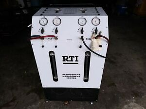 Rti Tc 2670 Ac Refrigerant Machine Recovery Charge Recycle Dual 134a R12
