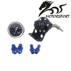 Tomei Universal Car Adjustable Fuel Pressure Regulator With Gauge Black