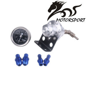 Tomei Universal Car Adjustable Fuel Pressure Regulator With Gauge Silver