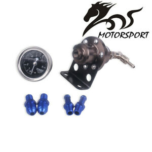 Tomei Universal Car Adjustable Fuel Pressure Regulator With Gauge Titanium