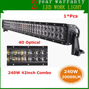 42 inch 240w Led Light Bar Combo Offroad Truck Car Boat Tractor Driving 4d Lens