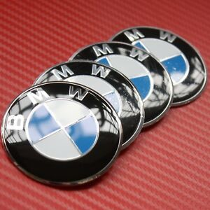 4pcs 56mm Wheel Center Hub Caps Emblem Blue White Badge Decals Stickers For Bmw