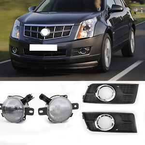 Driving Lights Front Bumper Fog Lamps Covers For Cadillac Srx 2010 16 Rh lh Us