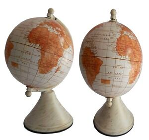 Rotating World Map Globes Antique Geographical Earth Desktop Globe