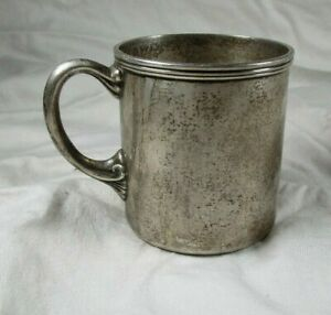 Antique Tiffany Co Sterling Silver Baby Cup