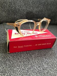 Vintage American Optical Safety Glasses Side Shield New Nos Usa Made Steampunk