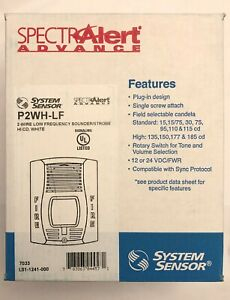 Honeywell System Sensor P2wh lf 2 Wired Low Frequency Horn Strobe White