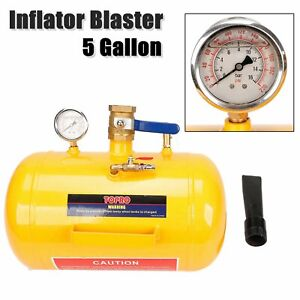 5 Gallon Air Tire Bead Seater 145psi Blaster Tool Seating Inflator W Gauge