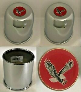 4 Wheel Center Caps 4 25 4wd For Ford Chevy Dodge Truck 6 Lug 5x5 5 Red Eagle