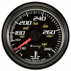 Equus 6242 2 Mechanical Water Temperature Gauge Black