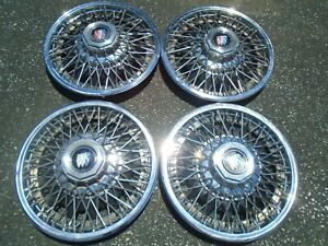 1980 1985 Buick Century skylark 13 Wire Hubcaps Set Of 4 Oem Hollander 1103 b