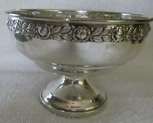 Royal Rose Mandalian Sterling Silver Compote Bowl Weighed Base
