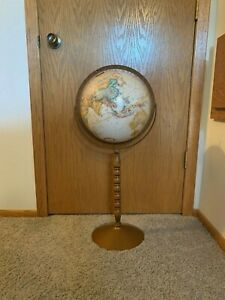 12 Replogle World Classic Globe 30 Tall On Wooden And Metal Stand Ussr