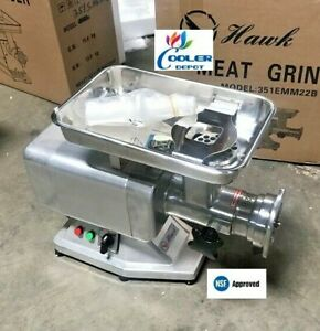 New 1100w Commercial Electric Meat Grinder Stainless Steel 1 5hp Counter Top Nsf