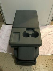 Oem 2009 2014 Ford F150 Jump Seat With Center Console And Bracket Cloth Grey