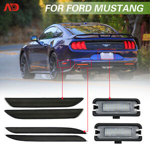 For 2015 up Ford Mustang Led Side Marker Bumper Reflector License Plate Light