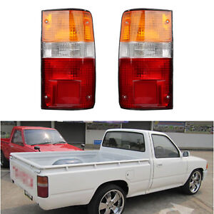 Pair Rear Lamp Tail Light For Toyota Hilux Mk3 Ln Rn Yn Pickup 2 4wd 1989 1995