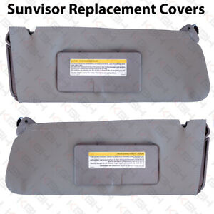 Sun Visor Replacement Cover Leather For 95 99 Chevy Tahoe Suburban Yukon Gray