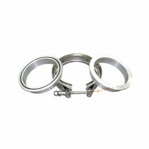 3 5 V Band Aluminium Flange Stainless Clamp O Ring Intercooler Inlet Pipe Kit