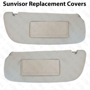 Sun Visor Mirror Replacement Cover Vinyl Leather For 94 01 Dodge Ram Gray