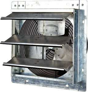 Wall Mounted Shutter Exhaust Fan 12 Variable Speed Heavy Duty Galvanized Steel