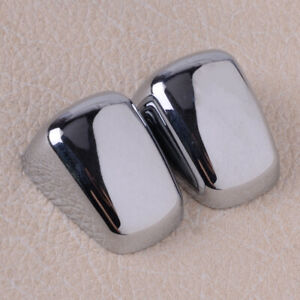 2x Chrome Windshield Washer Wiper Nozzle Trim Parts Fit For Jeep Compass 2007 17