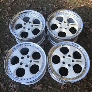 Desmond Re Amemiya Aw 7 17x8 5 9 5 41 42 5x114 Wheels Rims White Jdm Fd3s Rx7