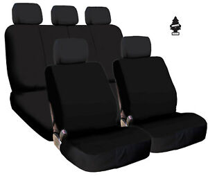 For Toyota New Black Cloth Car Truck Seat Covers Split Rear Seat With Gift