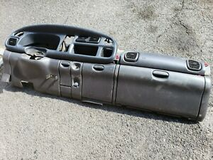 98 2001 Dodge Ram Dash Dashboard Cover Structure Frame Panel Agate Gray Complete