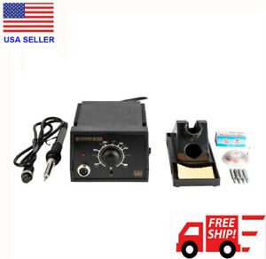 936d Electric Iron Soldering Station Smd Welder Welding W Stand Sponge Esd 110v