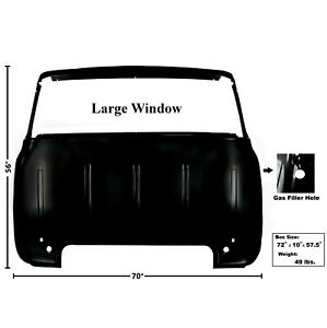 1956 Ford Pickup Truck Cab Back Panel Large Window W gas Filler Hole Dii 3241d
