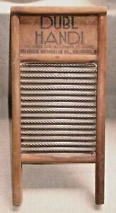 Vintage Travel Washboard Dubl Handi Columbus Washing Board Co Wood