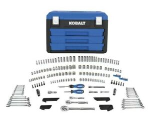 Kobalt 227 piece Mechanic s Tool Set Standard And Metric With Heavy Duty Case