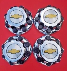 4x Chevy Chrome 8 Lug Center Caps Avalanche Suburban Silverado 2500 3500 9597163