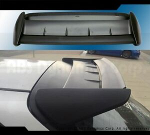 Seeker 2 Style Spoiler For 1996 2000 Honda 3dr Civic Ek9 Black Unpainted Plastic